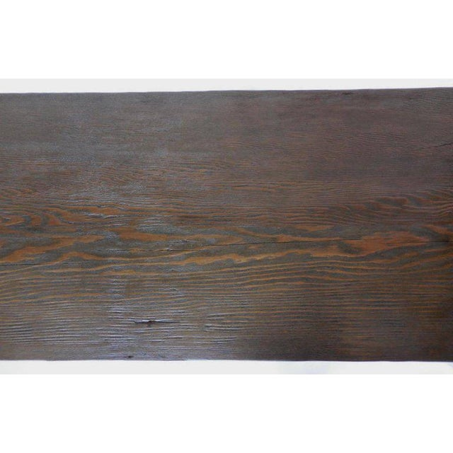 Wood Reclaimed Wood Buttress Console For Sale - Image 7 of 9