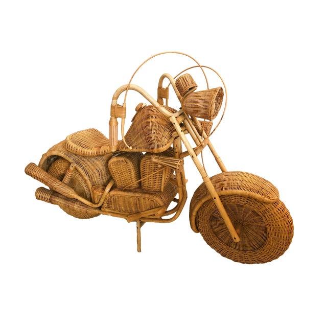 Vintage Wicker Motorcycle - Image 1 of 8