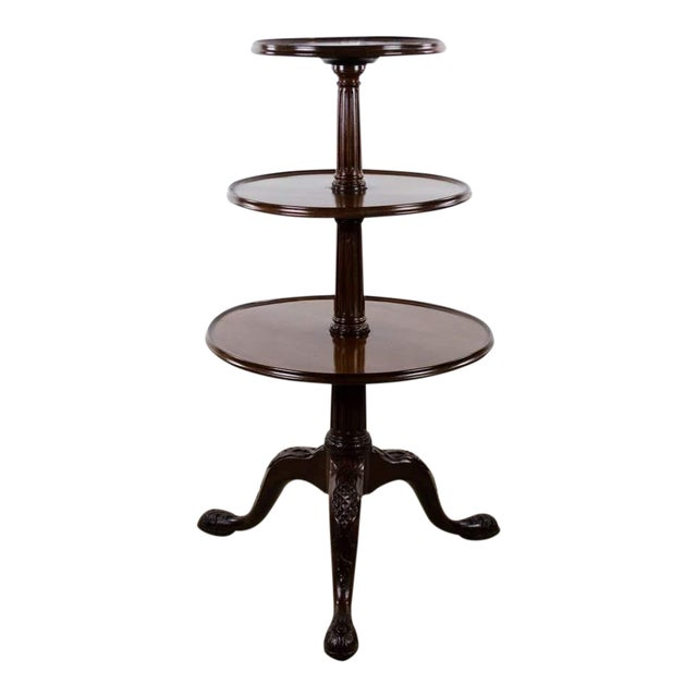 19th Century English Traditional 3-Tier Walnut Dumbwaiter Table For Sale - Image 13 of 13