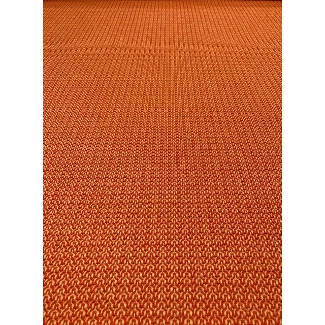 Modern Orange / Taupe Melange Multipurpose Fabric - 4.25 Yards For Sale - Image 4 of 4
