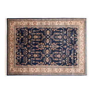 "Vintage Indian Mohajeran Sarouk Design Carpet - 9'11"" X 13'9"" For Sale"