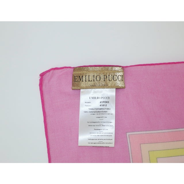 Large Emilio Pucci Cotton Sarong Length Scarf For Sale - Image 9 of 12