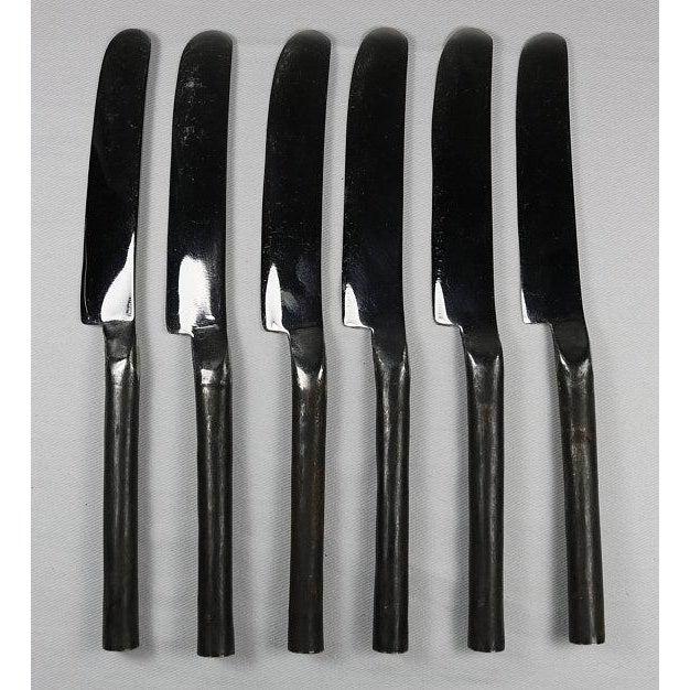 Copper Burnished Rustic Flatware Appetizer Salad Knife - Set of 6 (New) For Sale - Image 8 of 9