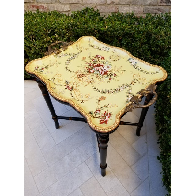 Porcelain Tray Table For Sale - Image 4 of 9