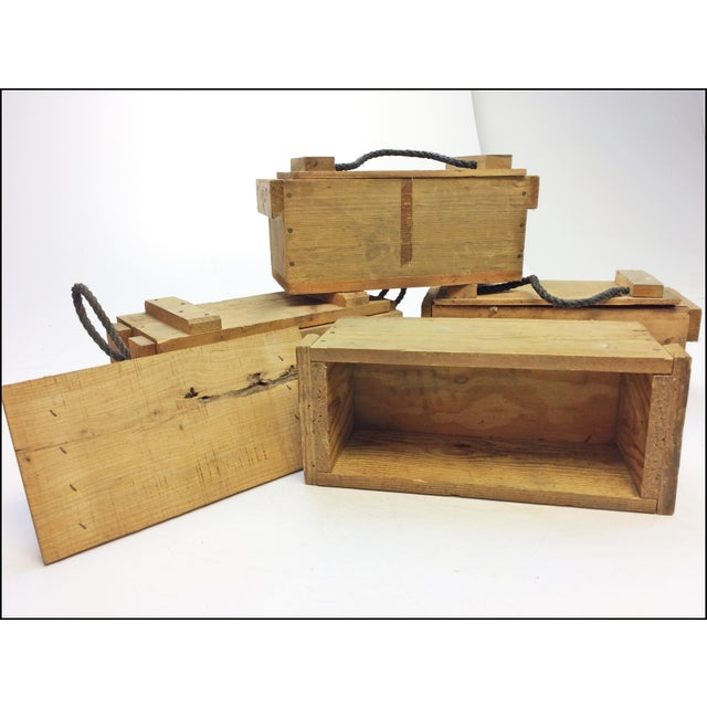Wood Boxes With Rope Handles ~ Small wood ammo boxes with rope handles set of chairish