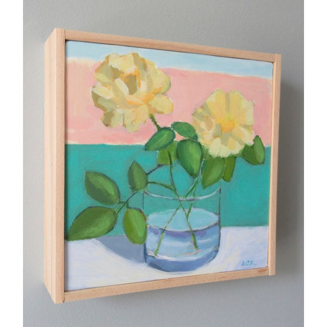 Abstract Expressionism Yellow Roses by Anne Carrozza Remick For Sale - Image 3 of 6