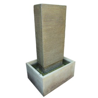 Green Cement Ripple Fountain For Sale