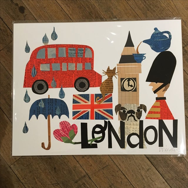 London Collage Print by Denise Fiedler - Image 2 of 4