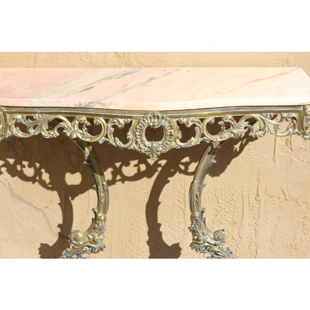 1900s French Louis XVI Bronze Console Table For Sale - Image 9 of 13