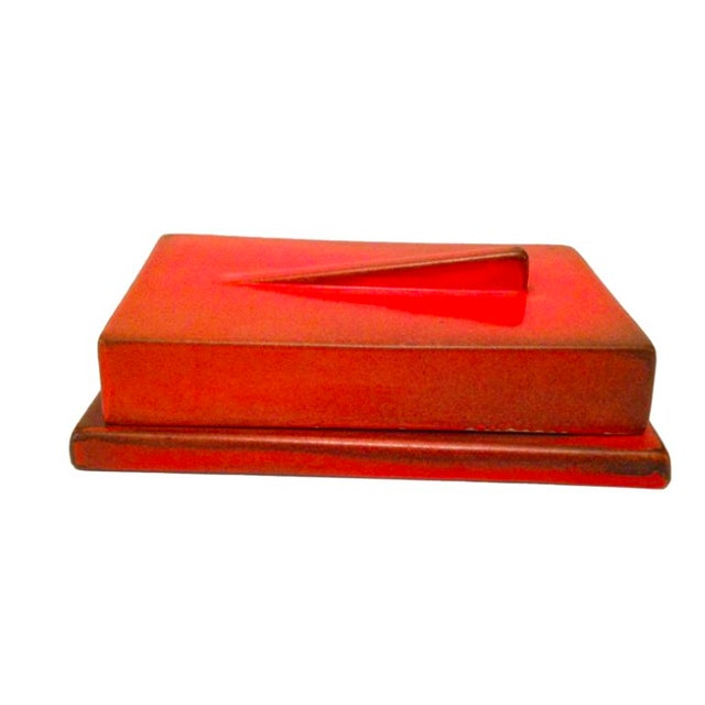 Burnt Orange German Bauhaus Lidded Box - Image 2 of 3