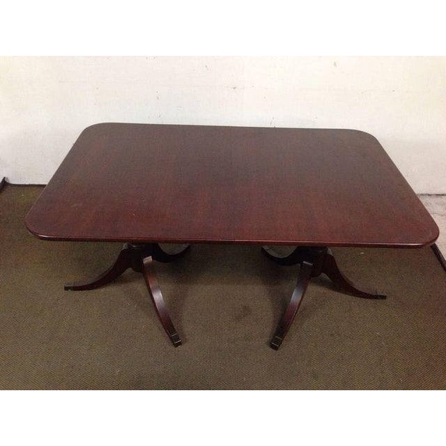 Mahogany Double Pedestal Dining Table - Image 4 of 8