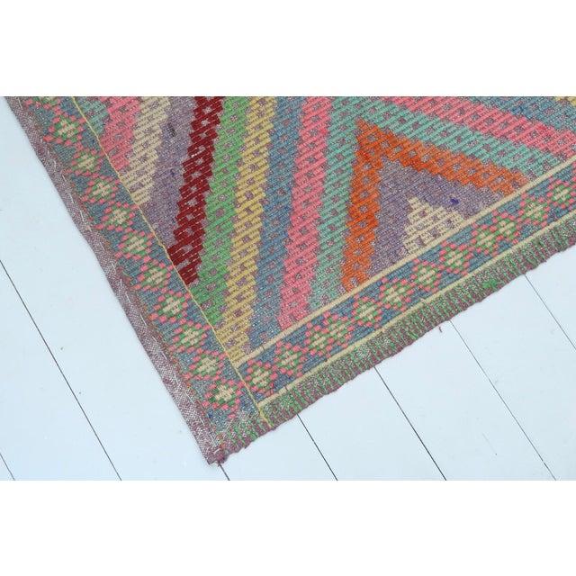 Anatolian Kilim Turkish Embroidery Rug For Sale - Image 11 of 13