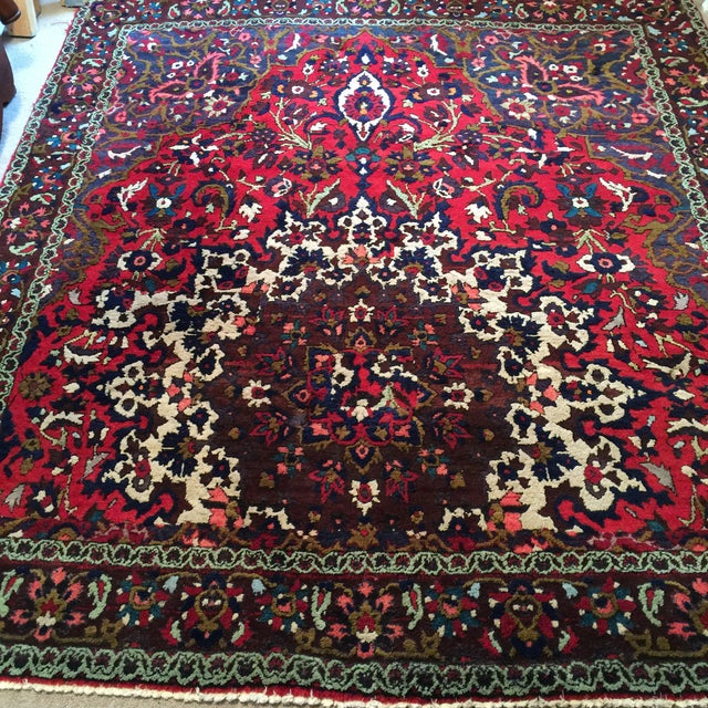 "Vintage Persian Rug 6'11"" X 7'11"" - Image 5 of 7"