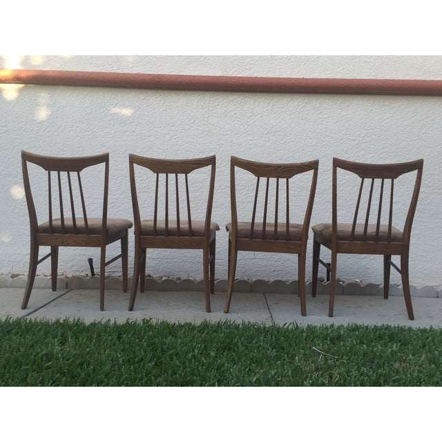 Mid Century Oak Dining Chairs - Set of 4 - Image 4 of 11