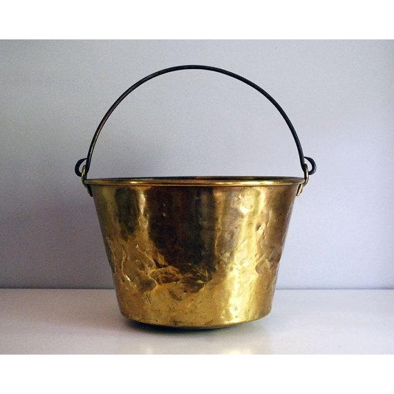 Antique Brass Bucket / Firewood Holder / Cauldron - Image 2 of 6