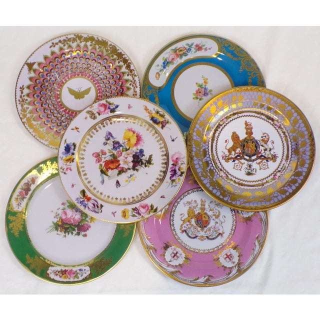Enamaled Tin English Plates - Set of 6 For Sale - Image 4 of 6