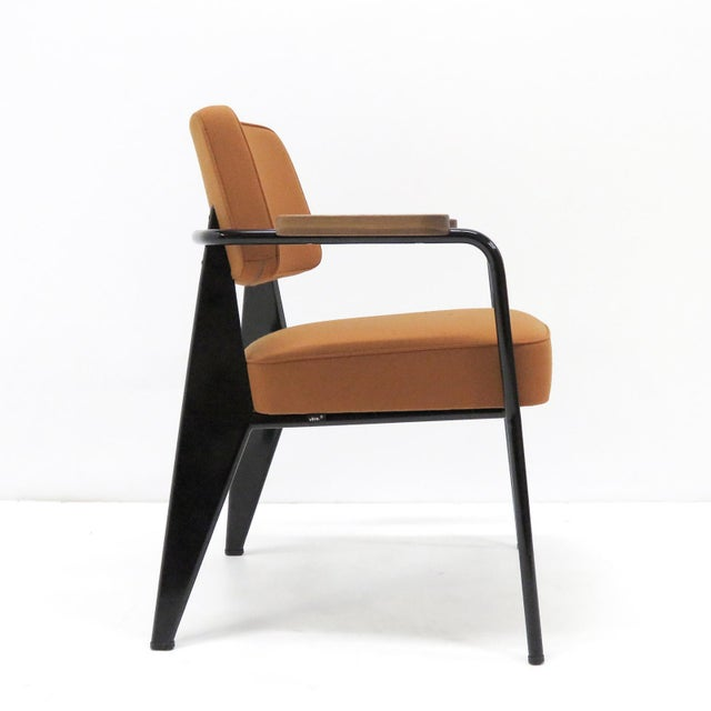 Brown Vitra Fauteuil Direction by Jean Prouvé Armchair For Sale - Image 8 of 11