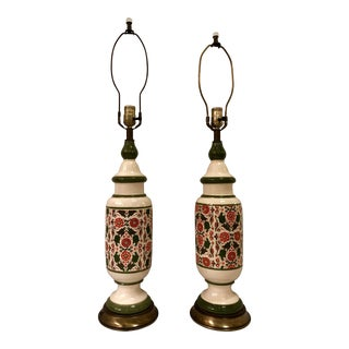 Spanish Revival Lamps, Pair For Sale