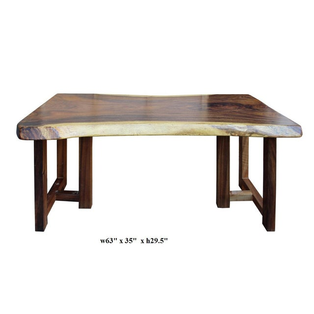 Wood Raw Wood Rectangular Plank Table / Desk For Sale - Image 7 of 7