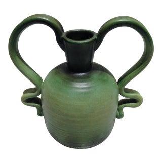 Bo Fajans Swedish Pottery Vase For Sale