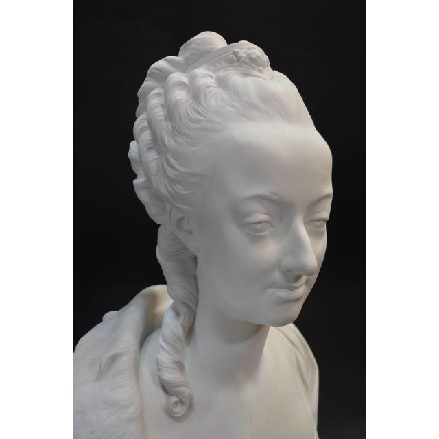 Bust of Marie Antionette, stamped Sevres.