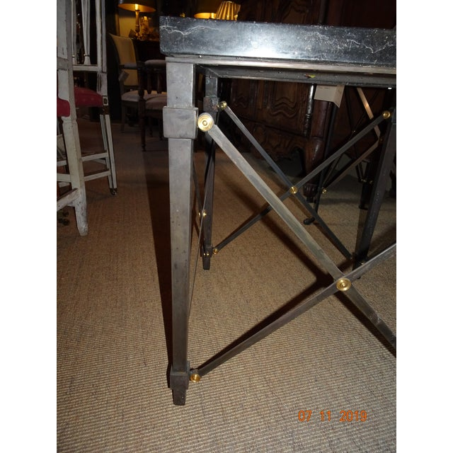 Contemporary Marble Side Table For Sale - Image 11 of 13