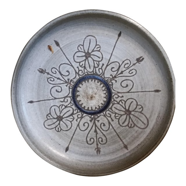 Last Call 1980 Artisan Pottery Tray or Platter For Sale