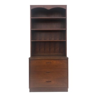 Mid Century Modern Three Drawer Shelving Unit by Lane For Sale