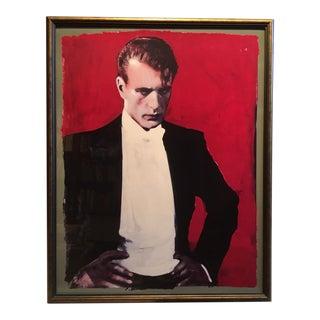 """Contemporary Framed Michael Vollbracht """"Gary Cooper"""" Print"""