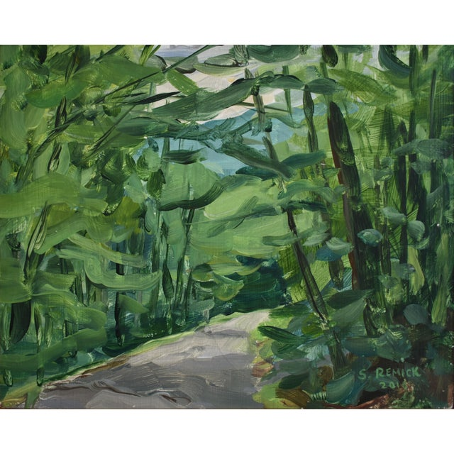 """2010s """"Country Road"""" Plein Air Painting For Sale - Image 5 of 5"""