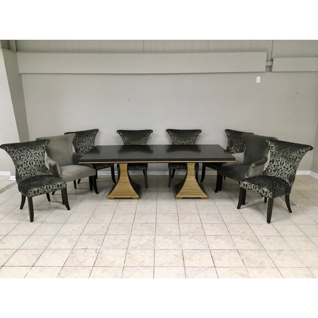 """Bernhardt """"Jet Set"""" Dining Table & 8 Chairs For Sale - Image 13 of 13"""