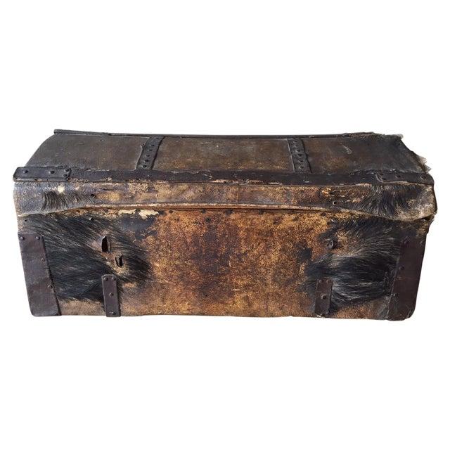18th Century Antique Italian Trunk For Sale