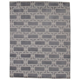 Pasargad N Y Modern Bamboo Silk Hand Knotted Area Rug - 8' X 10' For Sale