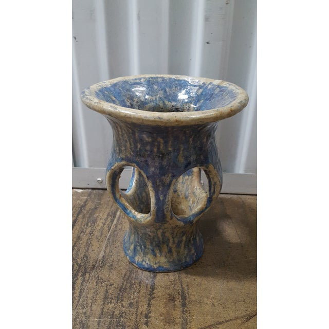 Studio Pottery Blue Glazed Vase - Image 3 of 4