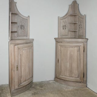 19th Century Country French Stripped Oak Cabinet-A Pair Preview