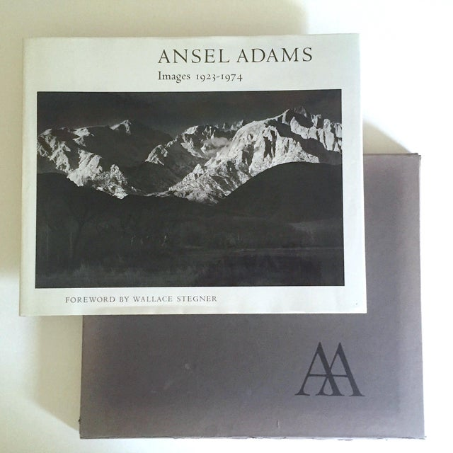 """This """" Ansel Adams Images 1923 - 1974 """" rare first edition vintage 1974 monumental oversized slipcase hardcover..."""