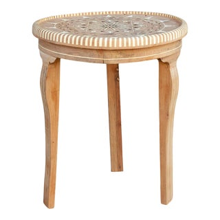Arabesque Syrian Marquetry Side Table For Sale