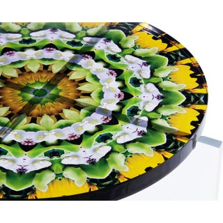 Signed Hand Made Acrylic Mandala Tables For Sale
