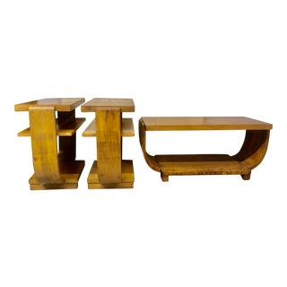 Mid Century Tables in the Style of Gilbert Rohde - 3 Pieces For Sale