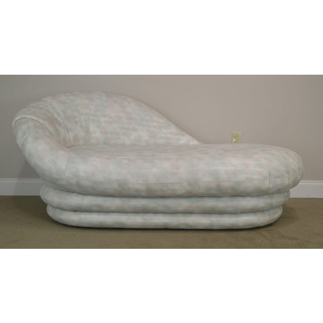 Carsons Inc. Post Modern Upholstered Chaise Lounge For Sale - Image 10 of 13