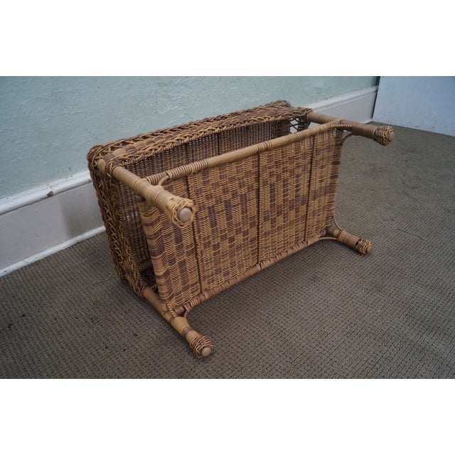 Quality Outdoor Wicker Patio Set - 4 Pieces - Image 5 of 10