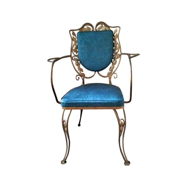Mid Century Hollywood Regency Accent Chair - Image 1 of 11