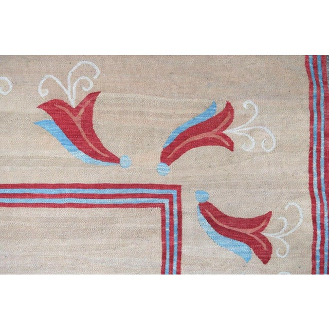 Traditional 1950s, Handmade Vintage Romanian Bessarabian Kilim 5.9' X 9.6' For Sale - Image 3 of 6