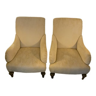 1990s Vintage Yellow Two-Tone Luxe Chairs- a Pair For Sale