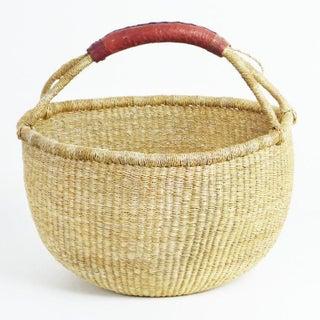 African Bolga Woven Natural Basket Preview