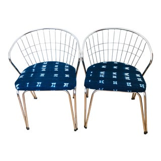 Vintage Mid-Century Modern Nelson & Small for Parsons Furniture Chrome Chairs - a Pair For Sale