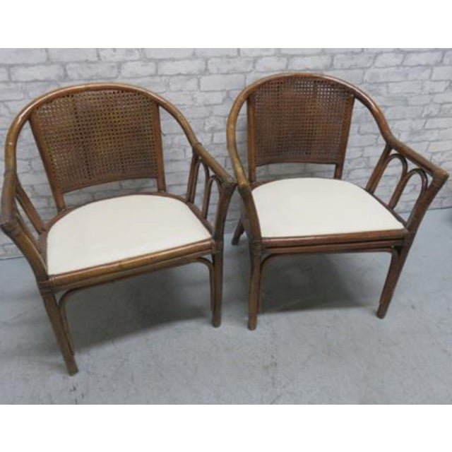 McGuire Style Rattan Cane Chair a Pair Last Markdown Firm For Sale In Cleveland - Image 6 of 6