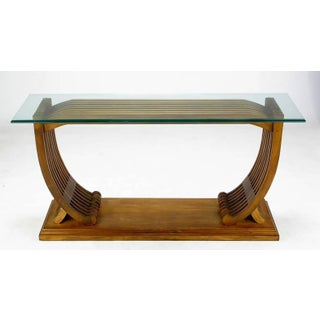 Studio Crafted Teak and Glass Shipwright Console Table Preview