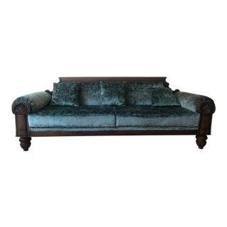 Vintage Mid Century Wooden Solid Teakwood Sofa For Sale