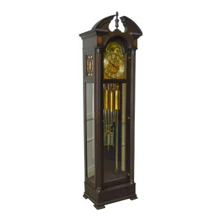 Colonial Mfg. Co. Antique Mahogany 9 Tube Tall Case Grandfather Clock